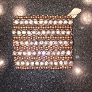 NEW! Copper & rhinestone bracelet